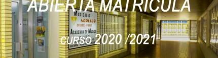 Abierta Matrícula curso 2020-2021
