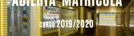 Abierta Matrícula curso 2019-2020